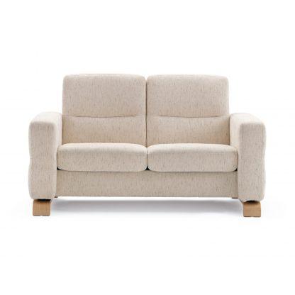 Sofa WAVE niedrig 2-Sitzer Stoff Silva light beige Stressless