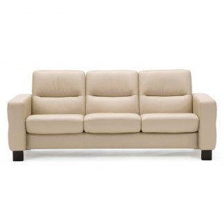 Sofa WAVE niedrig 3-Sitzer Leder Batick cream Stressless
