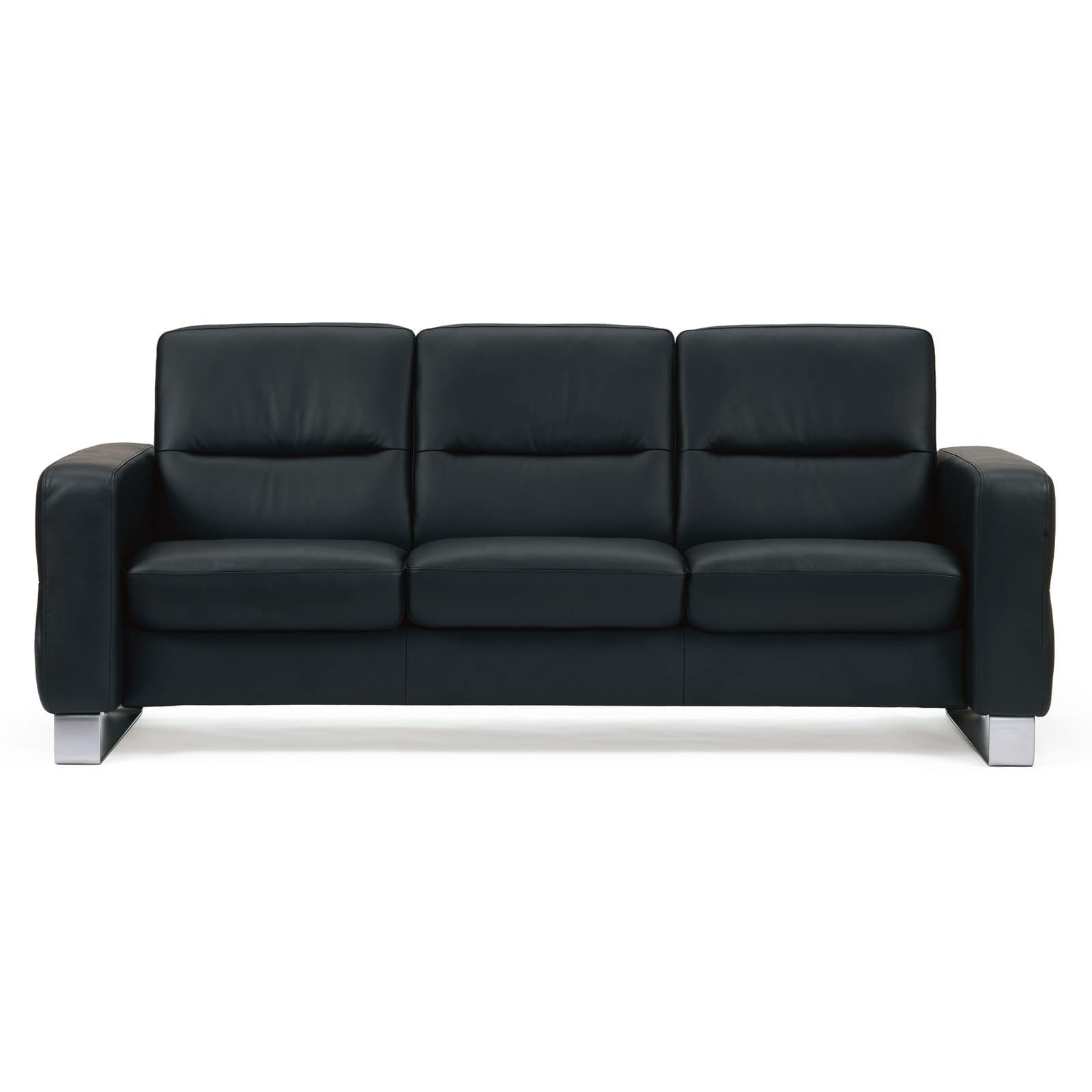 stressless sofa 3 sitzer wave m niedrig paloma black. Black Bedroom Furniture Sets. Home Design Ideas
