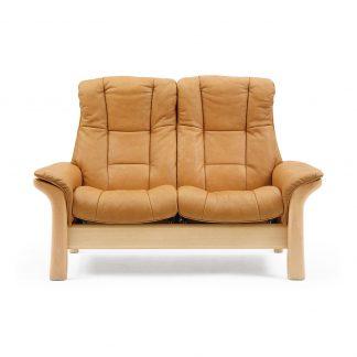 Sofa WINDSOR hoch 2-Sitzer Leder Cori tan Gestell natur Stressless