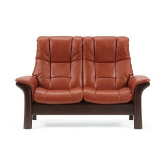 Sofa WINDSOR hoch 2-Sitzer Leder Paloma copper Gestell braun Stressless