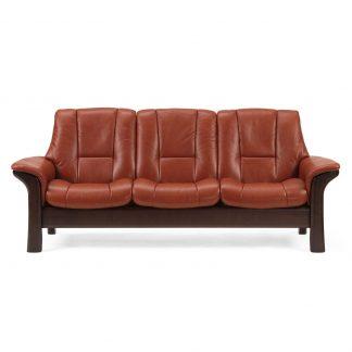 Sofa WINDSOR niedrig 3-Sitzer Leder Paloma copper Gestell braun Stressless