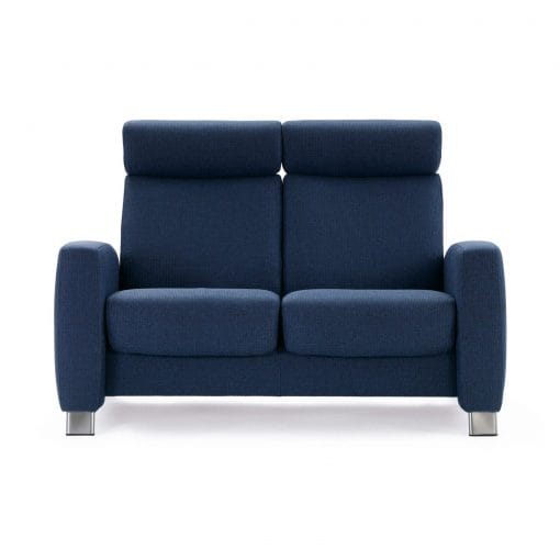 stressless sofa 2 sitzer arion m hoch blue stahl. Black Bedroom Furniture Sets. Home Design Ideas