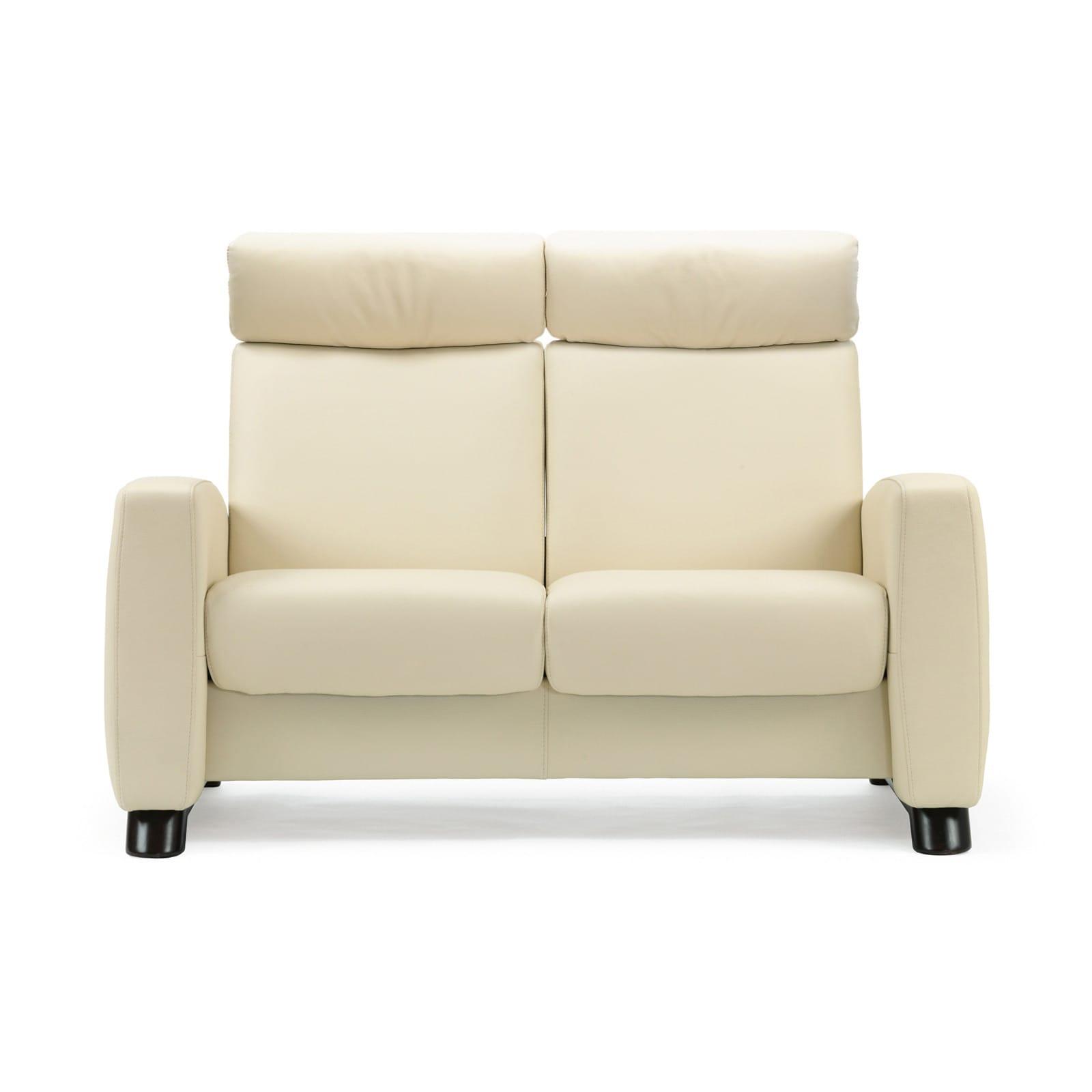 stressless sofa 2 sitzer arion m hoch vanilla schwarz. Black Bedroom Furniture Sets. Home Design Ideas