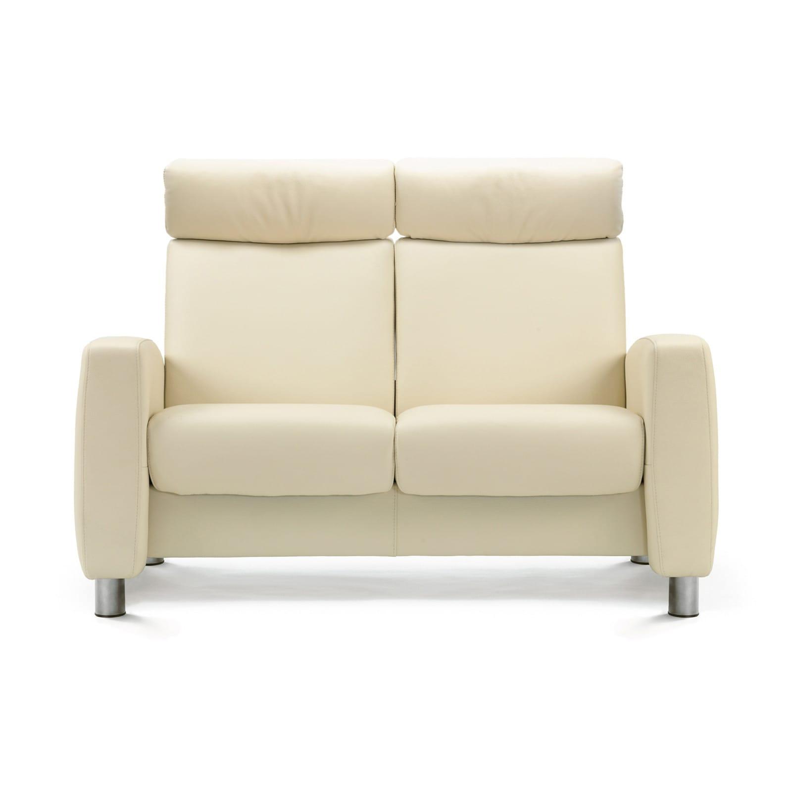 stressless sofa 2 sitzer arion m hoch vanilla stahl. Black Bedroom Furniture Sets. Home Design Ideas