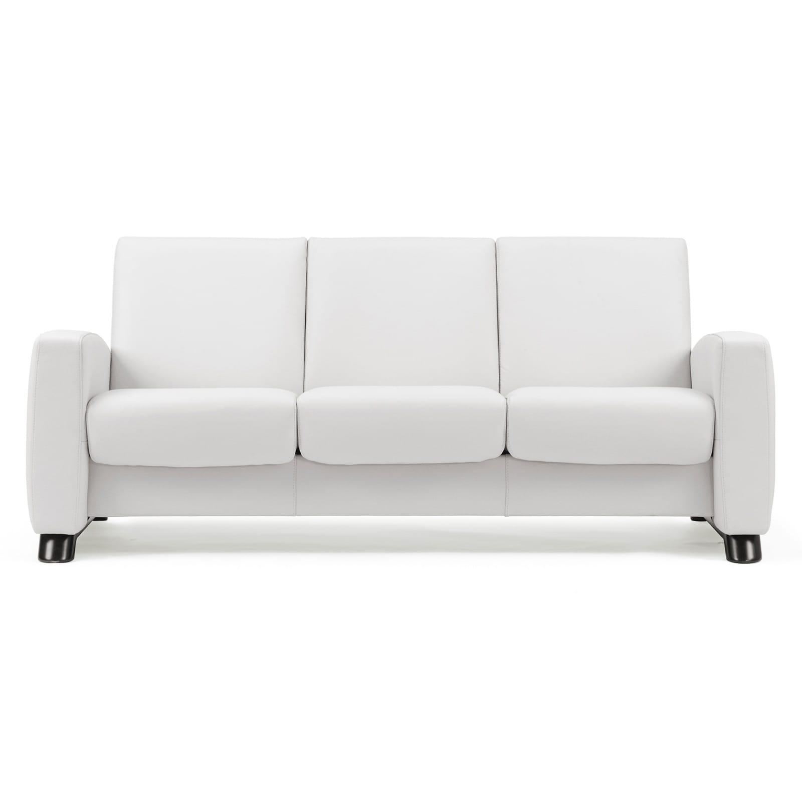 stressless sofa 3 sitzer arion m niedrig snow schwarz. Black Bedroom Furniture Sets. Home Design Ideas