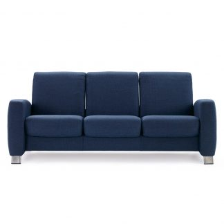 Sofa ARION niedrig 3-Sitzer Stoff Dinamica blue Gestell stahl Stressless