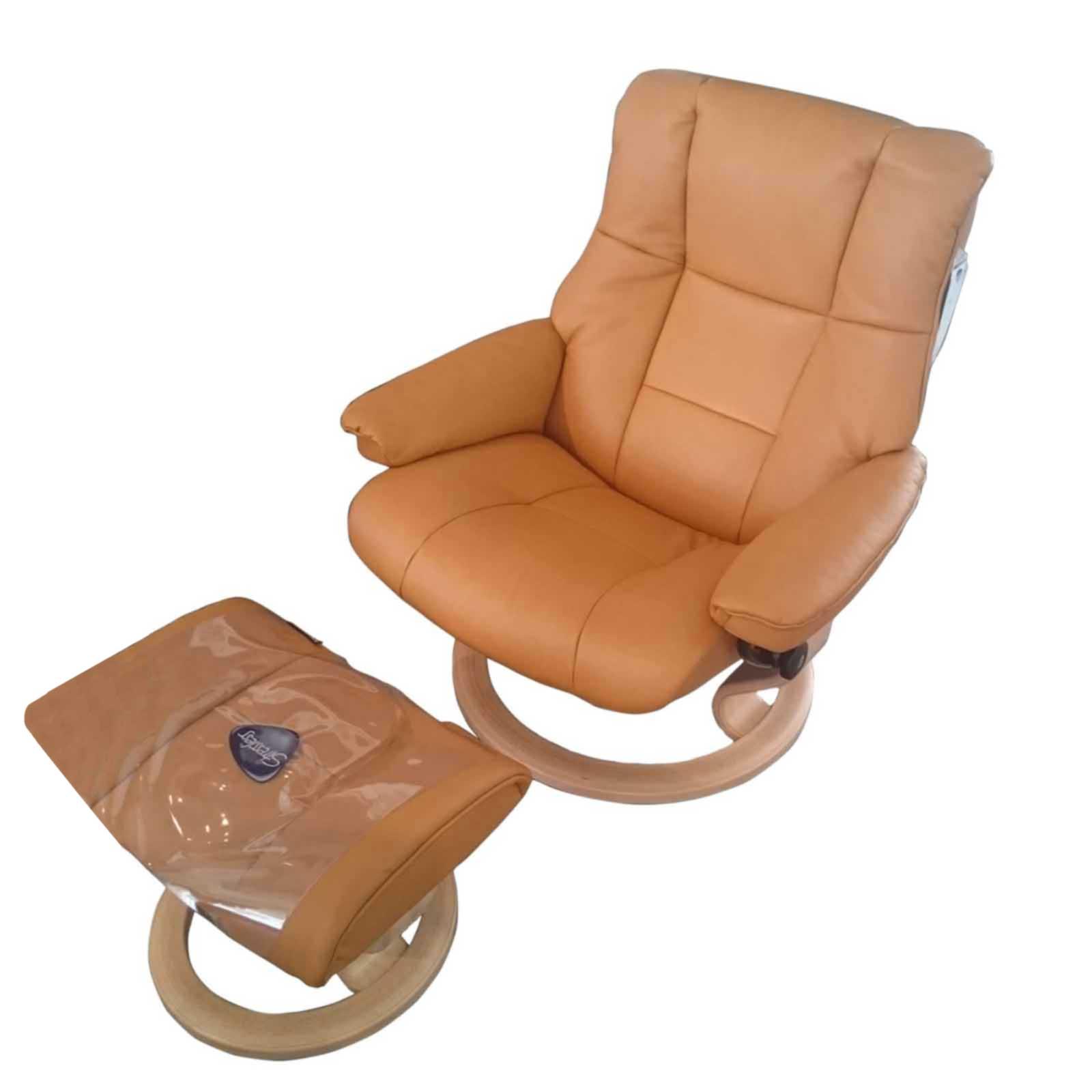 angebot stressless sessel mayfair leder cori tan mit hocker. Black Bedroom Furniture Sets. Home Design Ideas