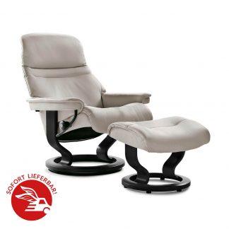 ausstellungsst ck stressless sessel sunrise mit hocker grey. Black Bedroom Furniture Sets. Home Design Ideas