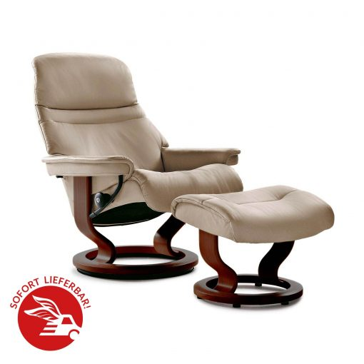 angebot stressless sessel sunrise l mit hocker camel. Black Bedroom Furniture Sets. Home Design Ideas