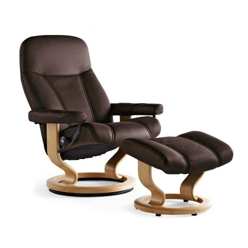 stressless sessel consul braun fernsehsessel deluxe