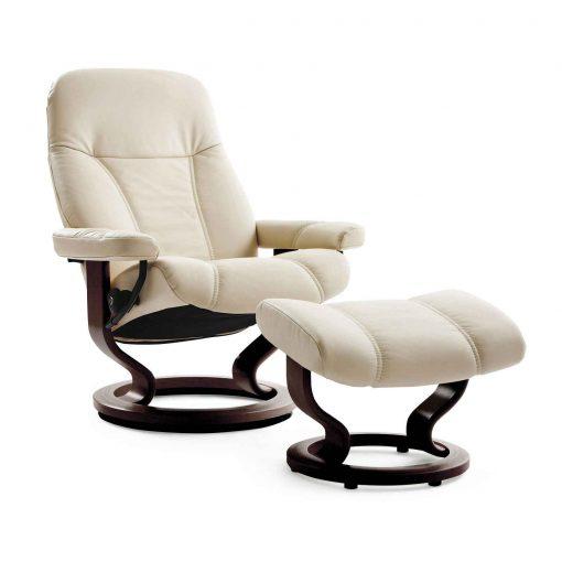 stressless sessel consul m batick cream mit hocker. Black Bedroom Furniture Sets. Home Design Ideas