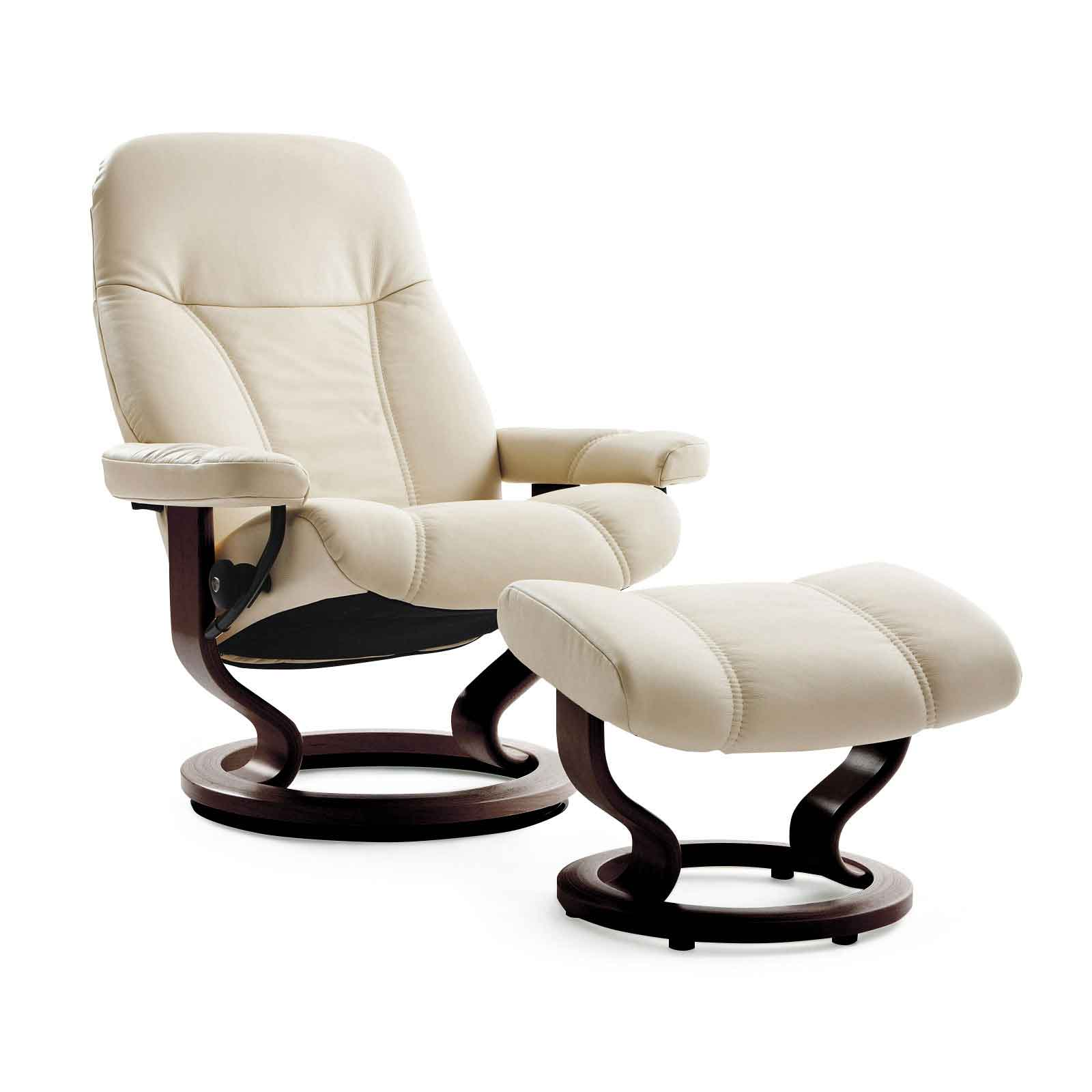 stressless sessel consul m batick cream mit hocker. Black Bedroom Furniture Sets. Home Design Ideas