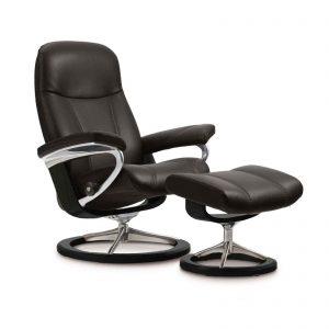 stressless consul ledersessel schwarz house of comfort. Black Bedroom Furniture Sets. Home Design Ideas