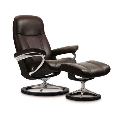 stressless consul batick braun signature hocker stressless. Black Bedroom Furniture Sets. Home Design Ideas