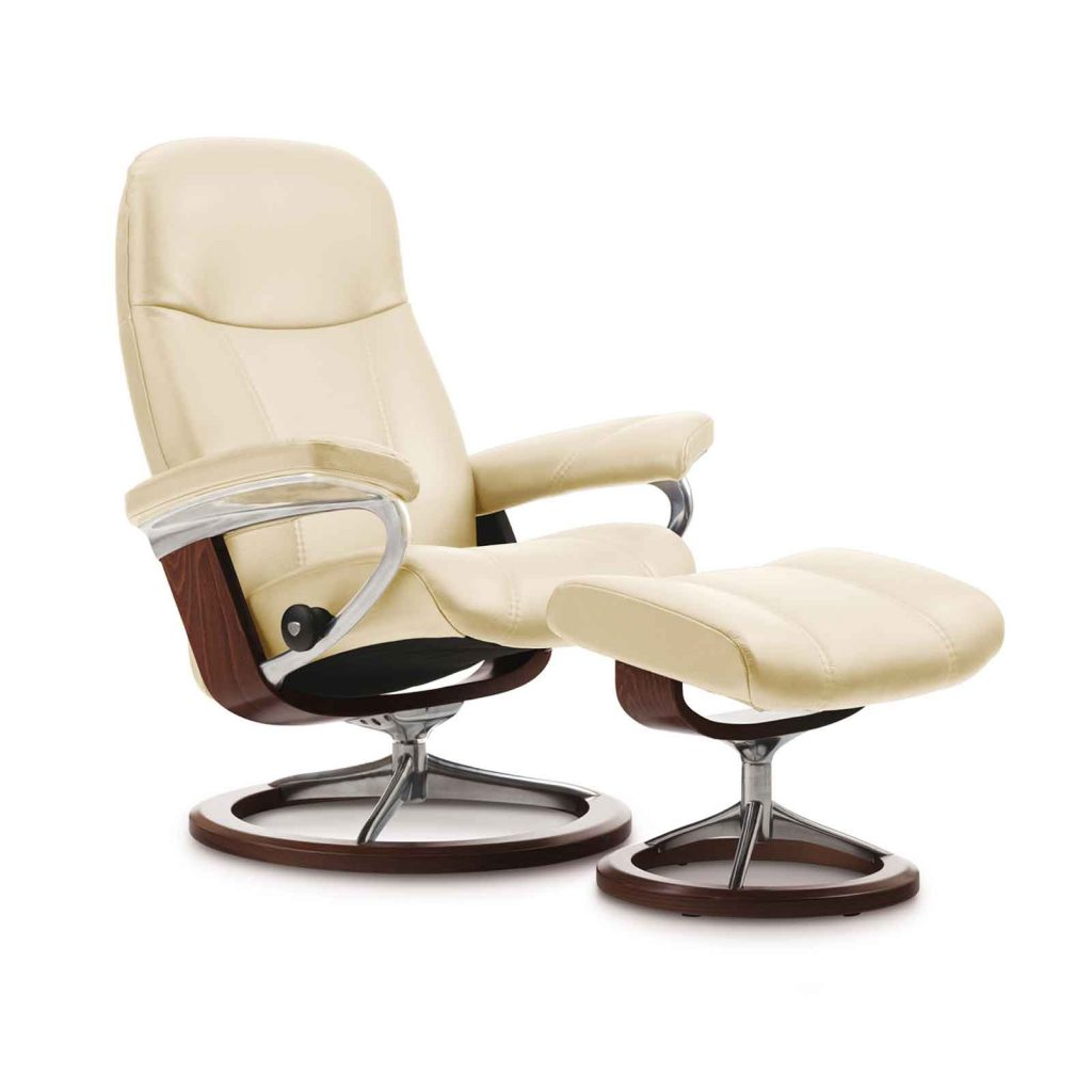 relaxsessel stressless consul batick cream untergestell braun mit hocker house of comfort. Black Bedroom Furniture Sets. Home Design Ideas