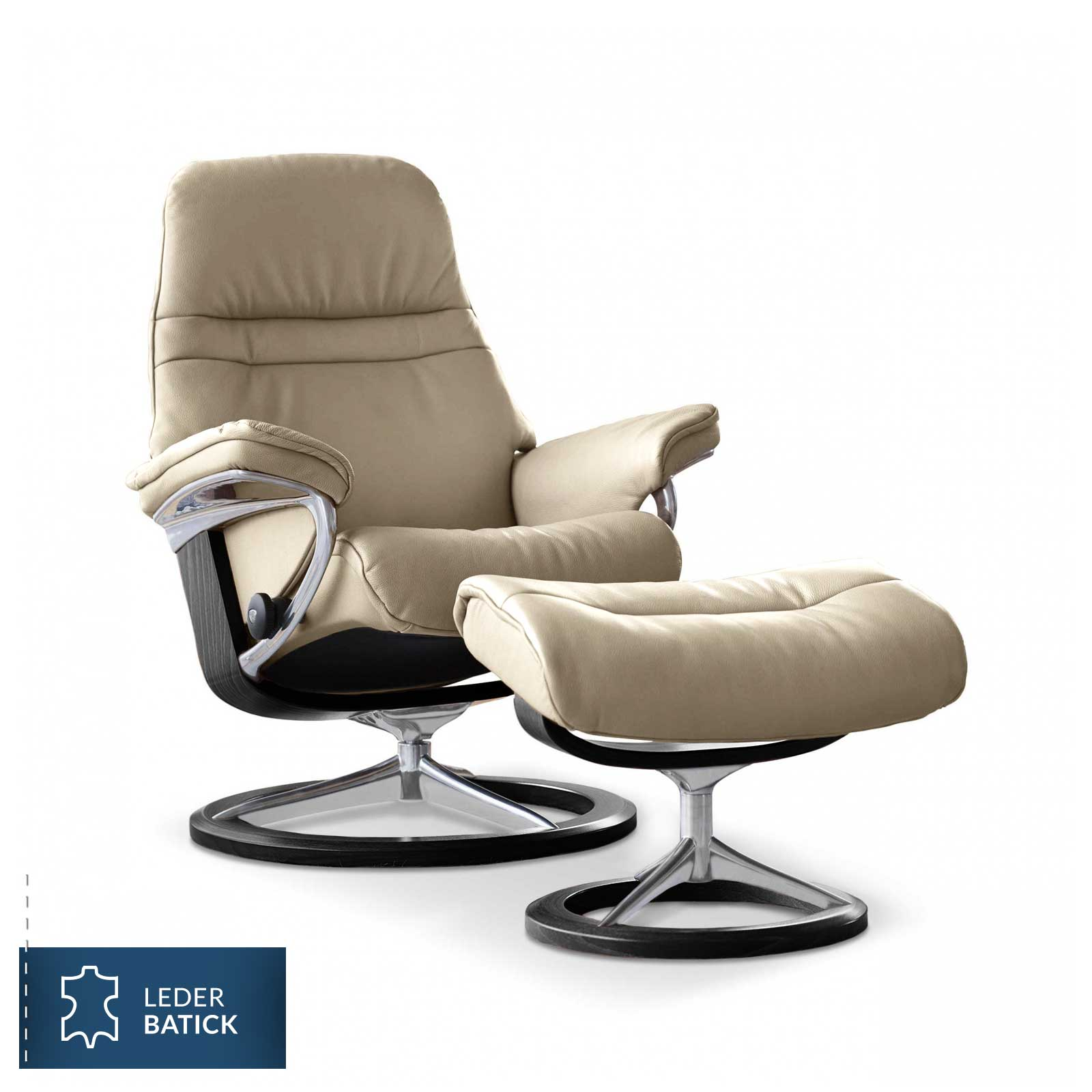 stressless sessel sunrise signature l batick cream stressless. Black Bedroom Furniture Sets. Home Design Ideas