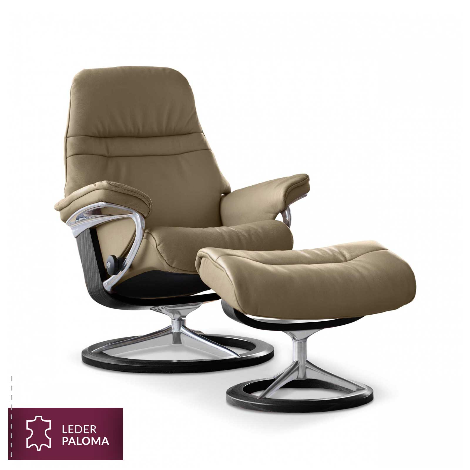 stressless sessel sunrise signature m paloma sand stressless. Black Bedroom Furniture Sets. Home Design Ideas