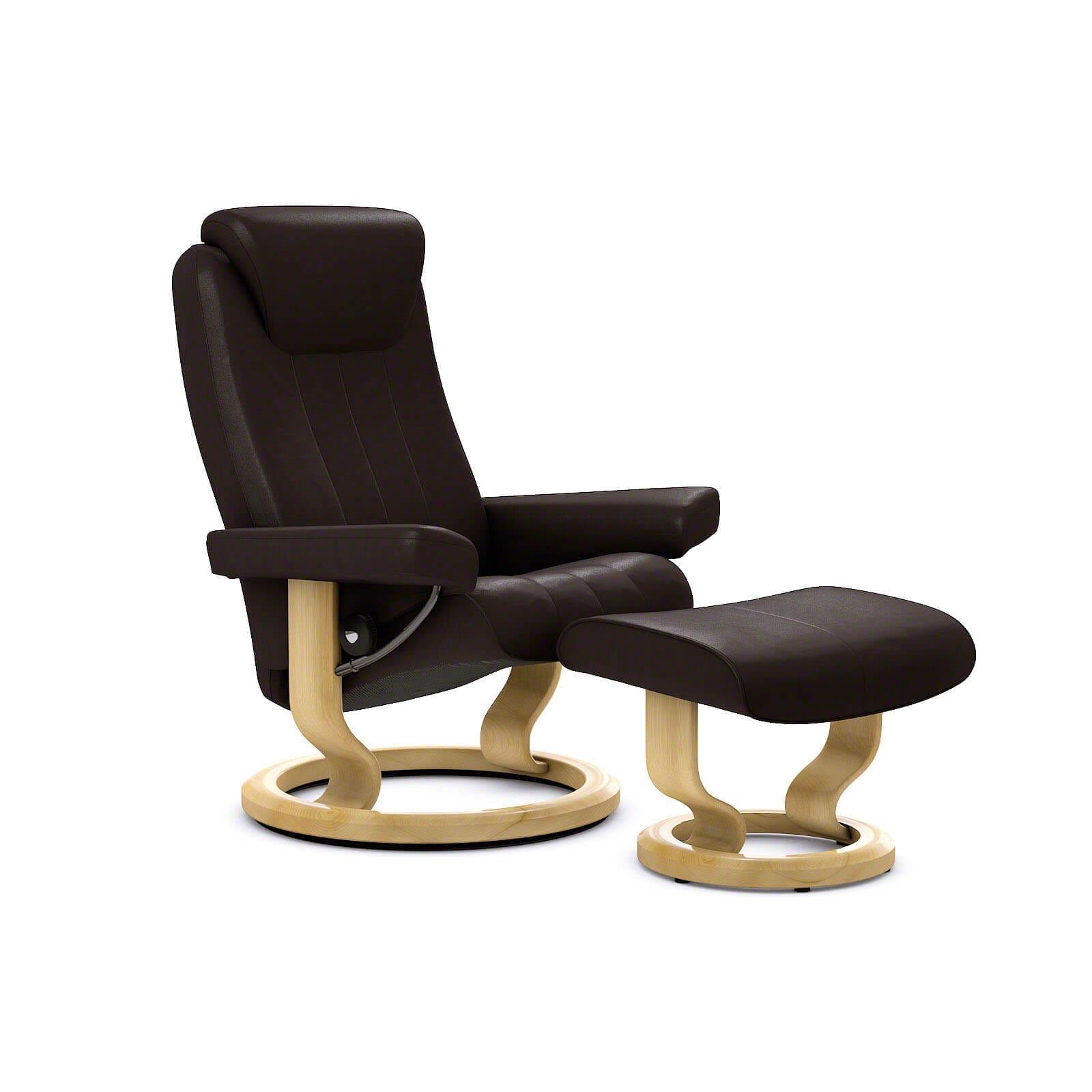 stressless bliss sessel paloma chocolate mit hocker stressless. Black Bedroom Furniture Sets. Home Design Ideas