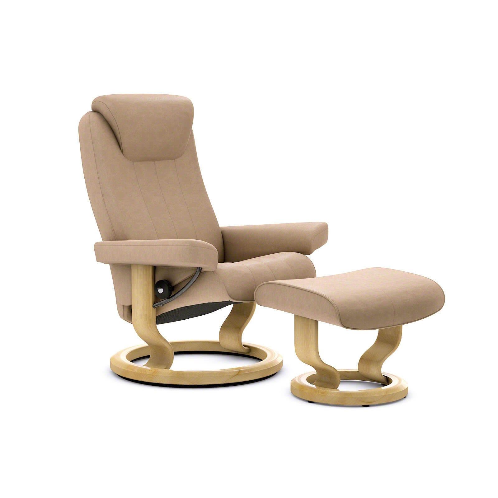 stressless bliss sessel paloma sand mit hocker stressless. Black Bedroom Furniture Sets. Home Design Ideas
