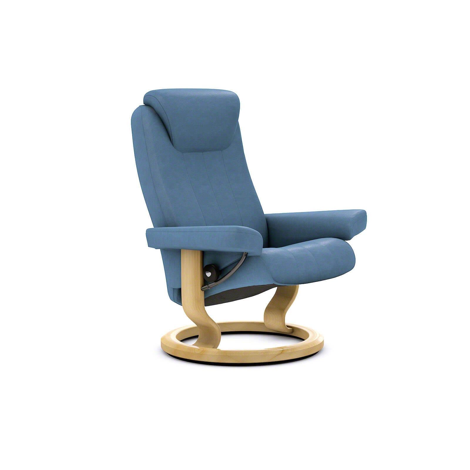 stressless bliss sessel sparrow blue ohne hocker stressless. Black Bedroom Furniture Sets. Home Design Ideas