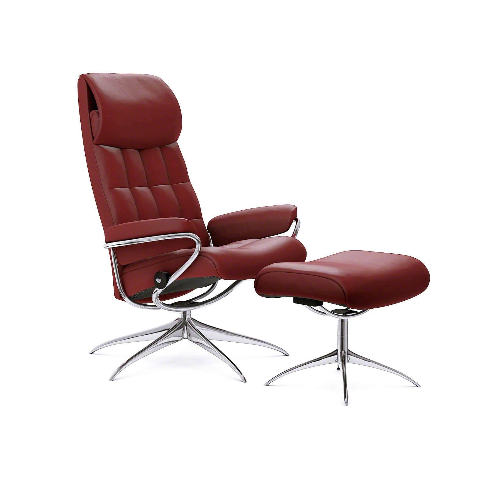 Stressless London Sessel mit hoher Lehne Lederfarbe cherry