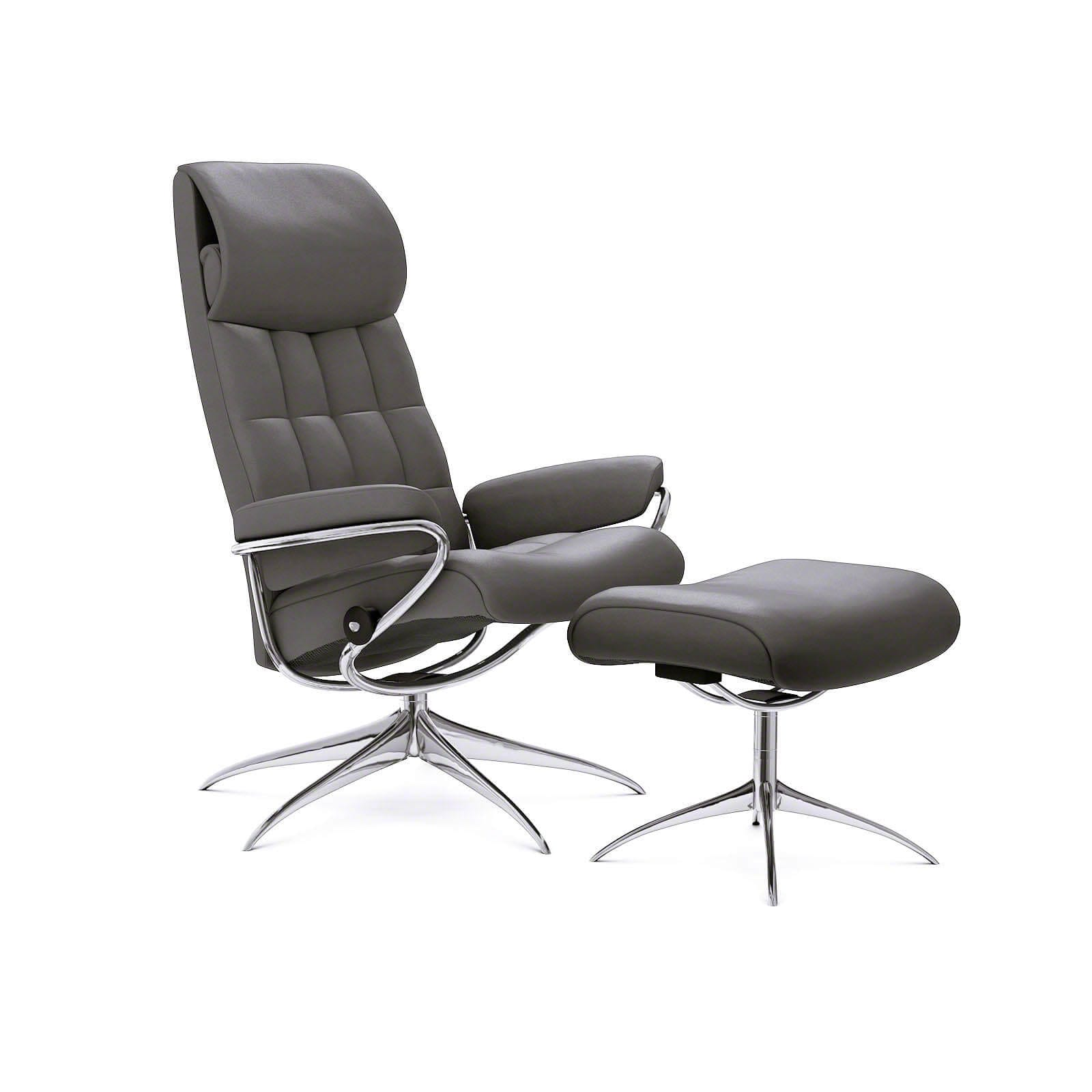 Stressless london sessel mit hoher lehne paloma metal grey for Sessel mit hoher lehne