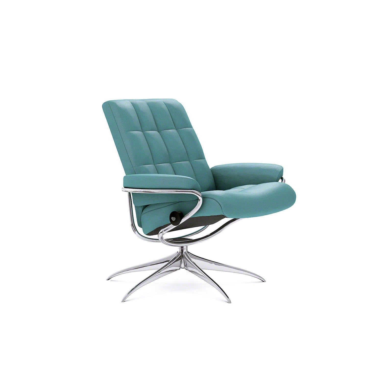 stressless london mit niedriger lehne lederfarbe aqua green. Black Bedroom Furniture Sets. Home Design Ideas