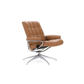 Sessel LONDON Low Back Leder Paloma taupe Starbase Gestell chrom Stressless