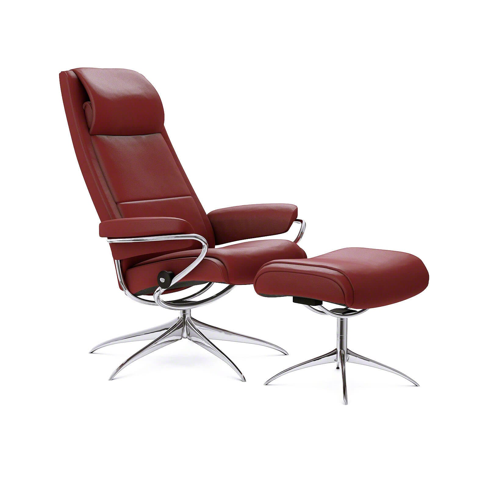 Stressless paris sessel paloma cherry hohe lehne stressless for Roter ledersessel