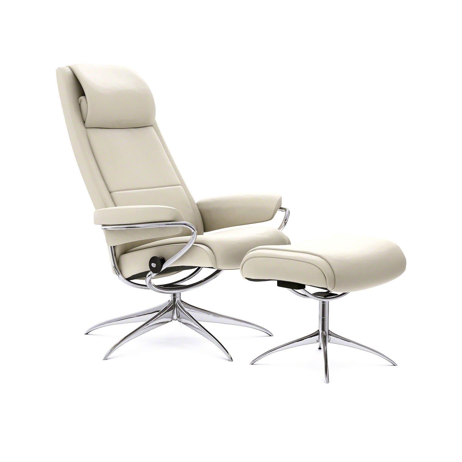 stressless paris sessel paloma light grey mit hoher lehne. Black Bedroom Furniture Sets. Home Design Ideas
