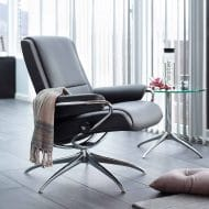 Sessel PARIS Low Back Leder Paloma metal grey Starbase Gestell chrom Stressless