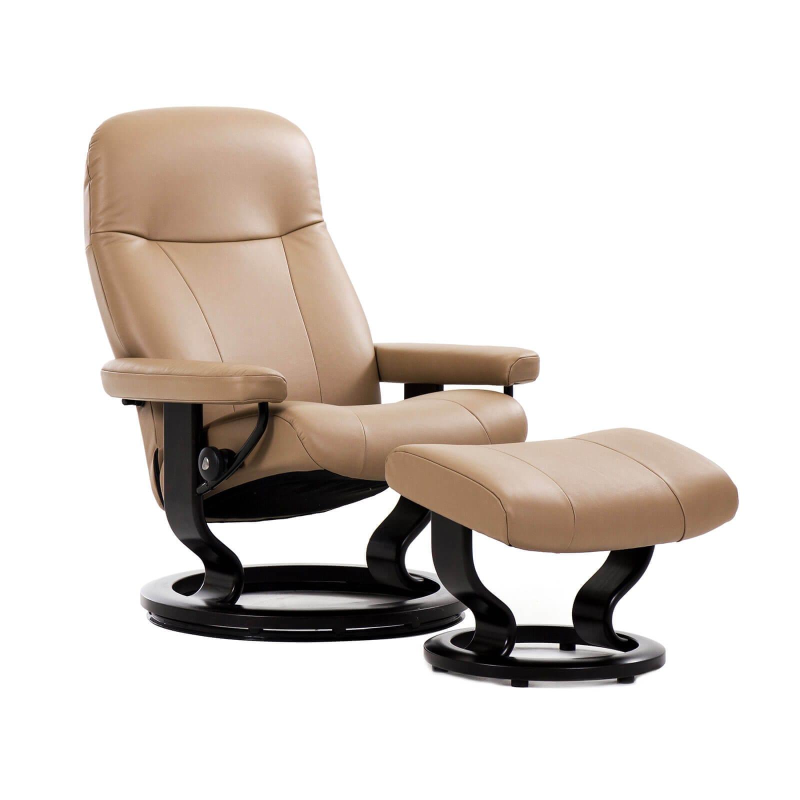 stressless sessel garda paloma sand classic schwarz hocker. Black Bedroom Furniture Sets. Home Design Ideas