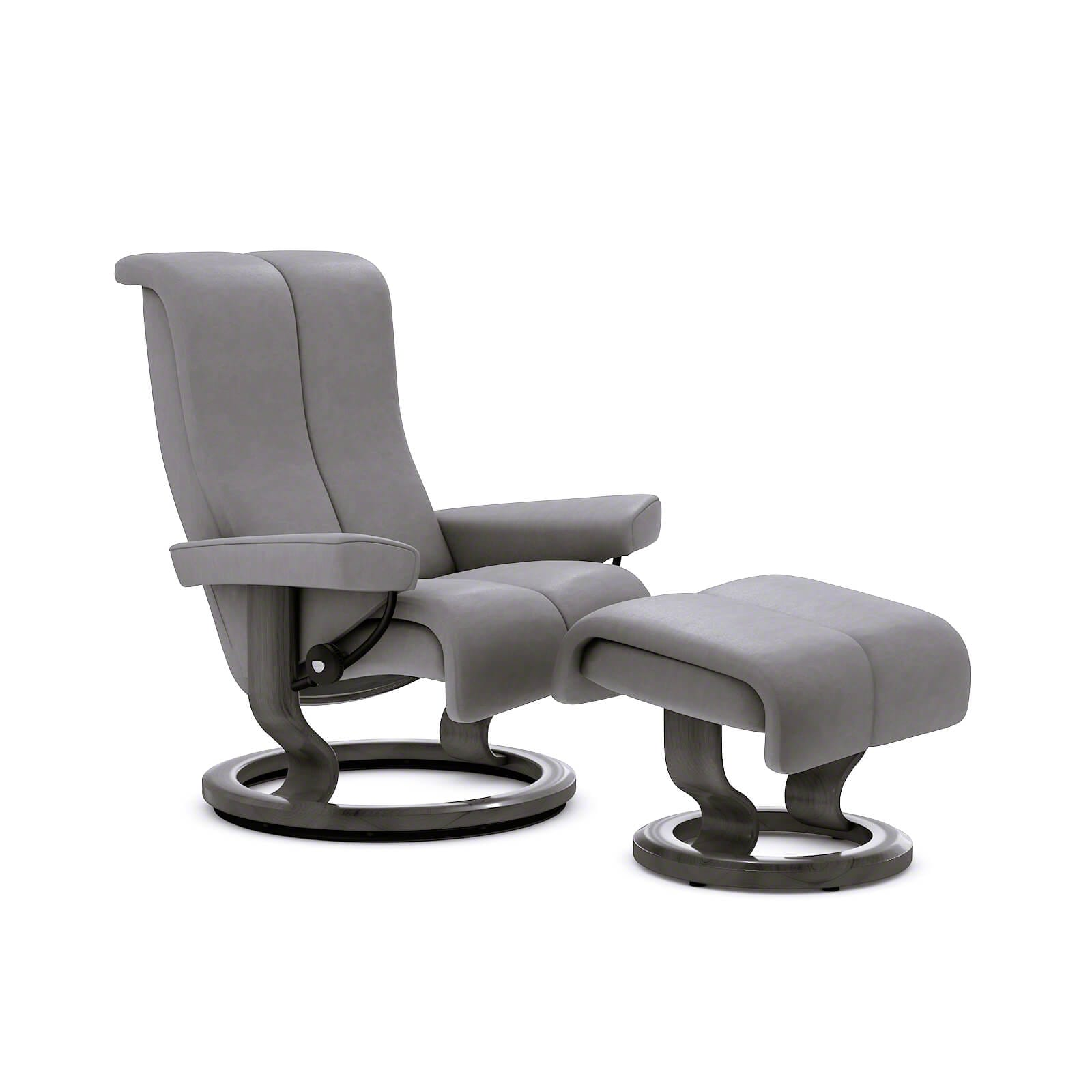 stressless piano noblesse grau classic grau hocker stressless. Black Bedroom Furniture Sets. Home Design Ideas