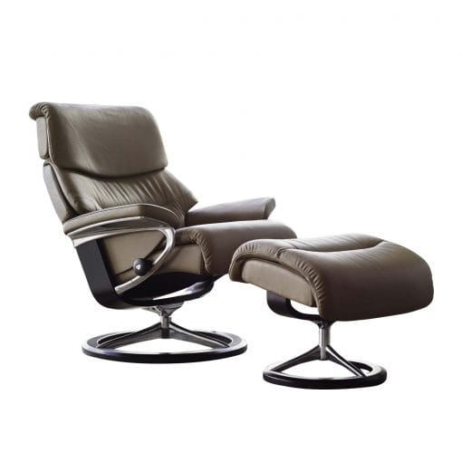 stressless sessel capri paloma olive signature schwarz mit hocker. Black Bedroom Furniture Sets. Home Design Ideas