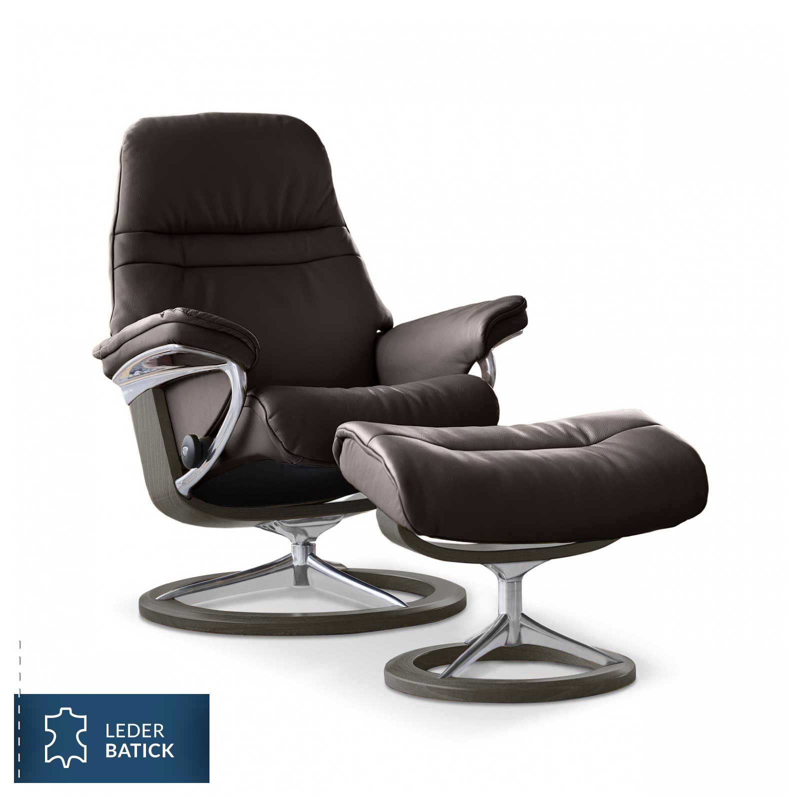 stressless sunrise batick braun signature hocker stressless. Black Bedroom Furniture Sets. Home Design Ideas
