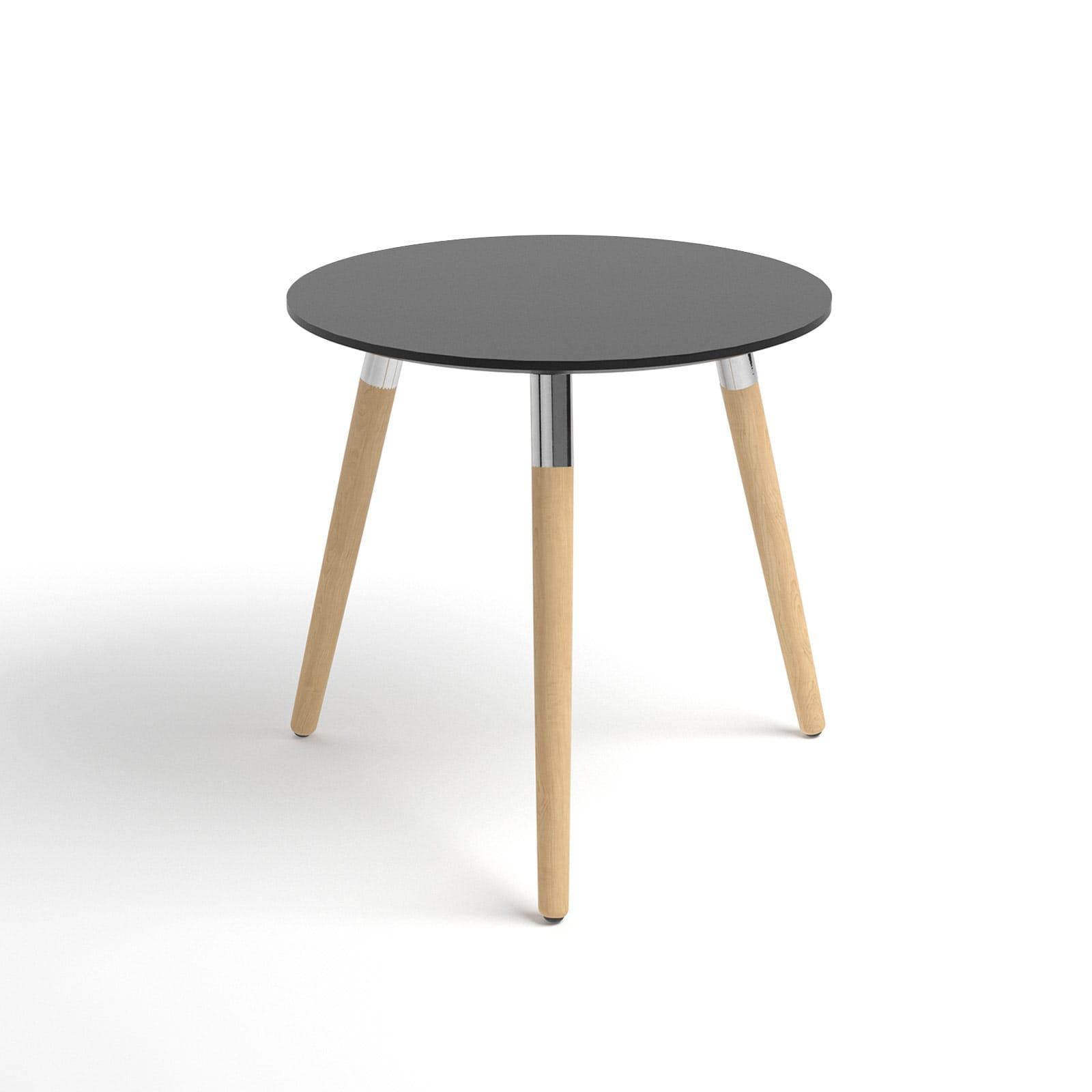stressless beistelltisch style rund platte schwarz f e natur house of comfort. Black Bedroom Furniture Sets. Home Design Ideas
