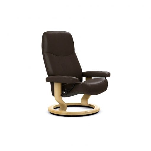 stressless consul sessel batick braun ohne hocker. Black Bedroom Furniture Sets. Home Design Ideas