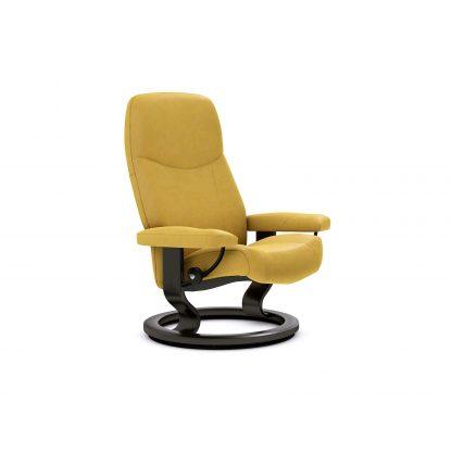 Sessel CONSUL Classic ohne Hocker Leder Batick mimosa Gestell schwarz Stressless