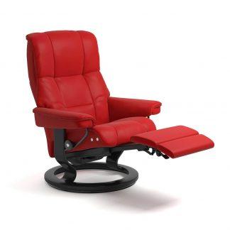 Sessel MAYFAIR Classic LegComfort Leder Batick chilli red Gestell schwarz Stressless