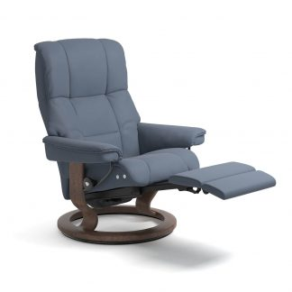 Sessel MAYFAIR Classic LegComfort Leder Paloma sparrow blue Gestell walnuss Stressless