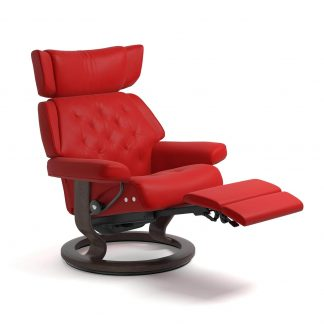 Sessel SKYLINE Classic LegComfort Leder Batick chilli red Gestell wenge Stressless