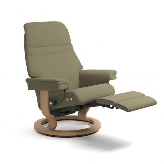 Sessel SUNRISE Classic LegComfort Stoff Calido light green Gestell eiche Stressless