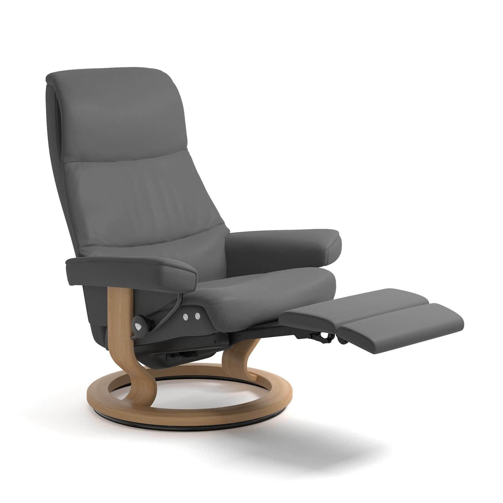 stressless view legcomfort grau stressless online shop. Black Bedroom Furniture Sets. Home Design Ideas