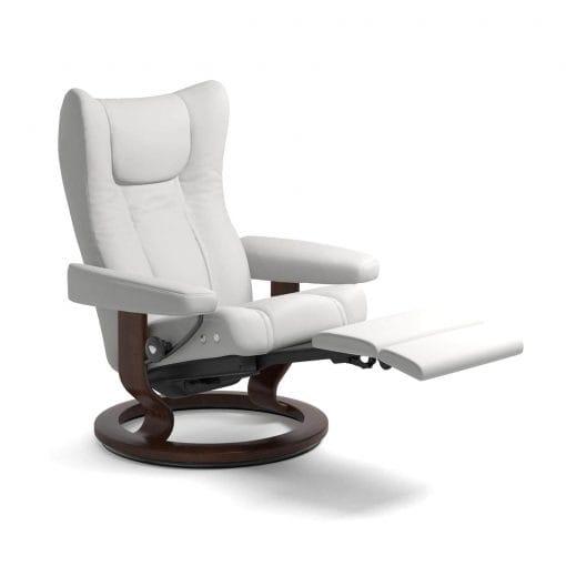 stressless sessel wing legcomfort leder batick snow stressless. Black Bedroom Furniture Sets. Home Design Ideas