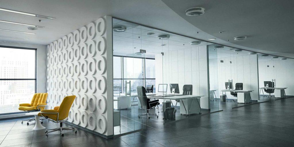 Office Sessel Low und High Back gelb und schwarzes Leder Büro Stressless