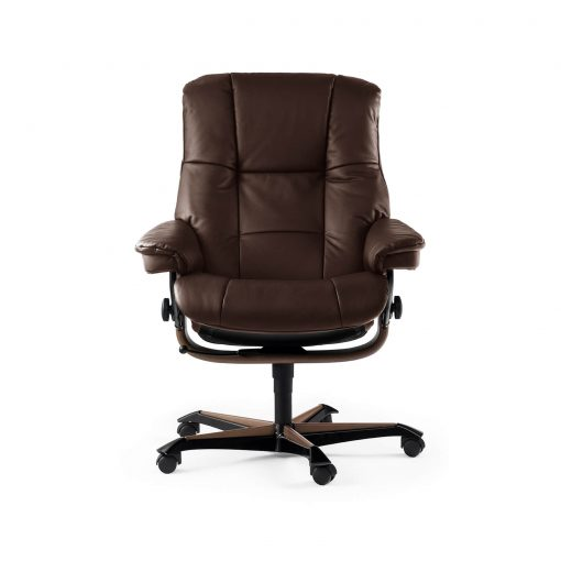 stressless sessel mayfair home office m lederfarbe braun. Black Bedroom Furniture Sets. Home Design Ideas