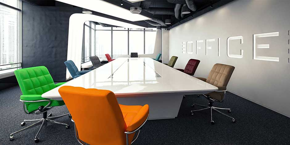 Home Office Sessel London Low Back verschiedene Lederfarben am Konferenztisch Stressless