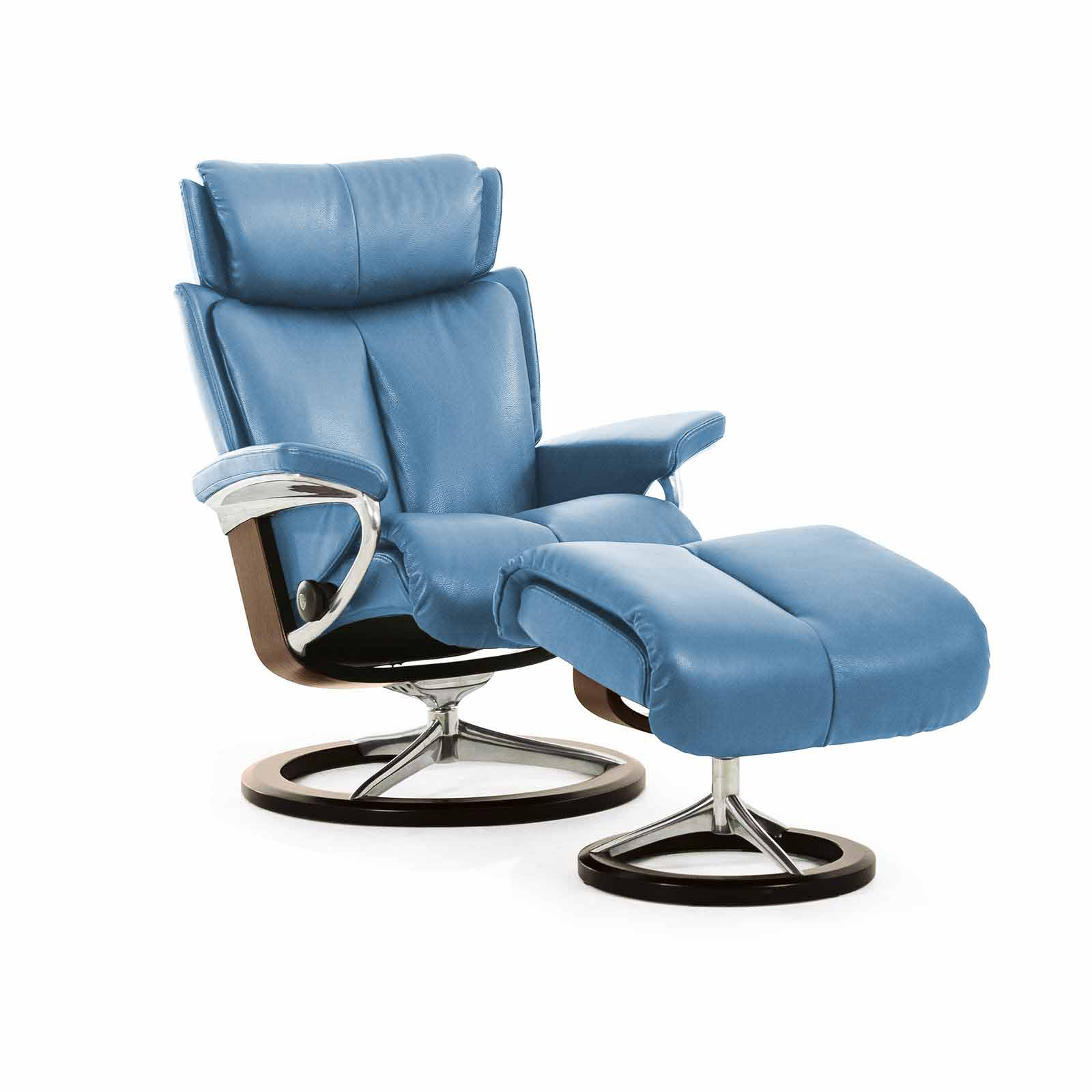 stressless sessel magic paloma sparrow blue signature mit hocker. Black Bedroom Furniture Sets. Home Design Ideas