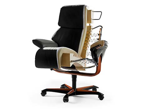 Home Office Sessel Funktion Technik Material Stressless